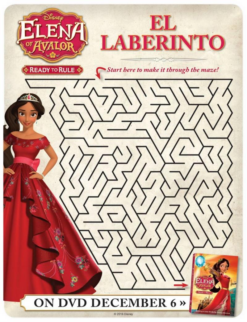 Disney Elena Of Avalor Free Printable Maze | Mama Likes This - Elena Of Avalor Free Printables