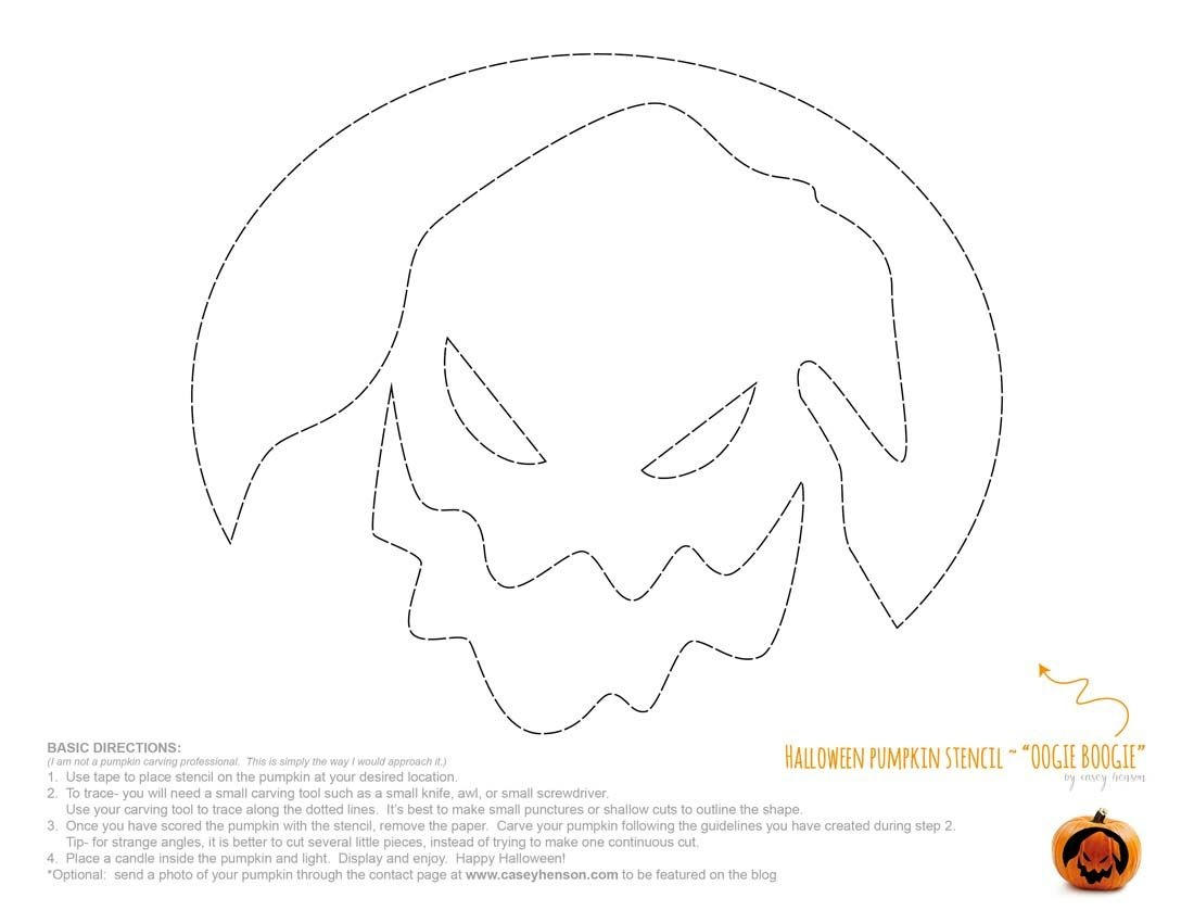 Disney Oogie Boogie Nightmare Before Christmas Free Halloween - Free Printable Nightmare Before Christmas Pumpkin Stencils