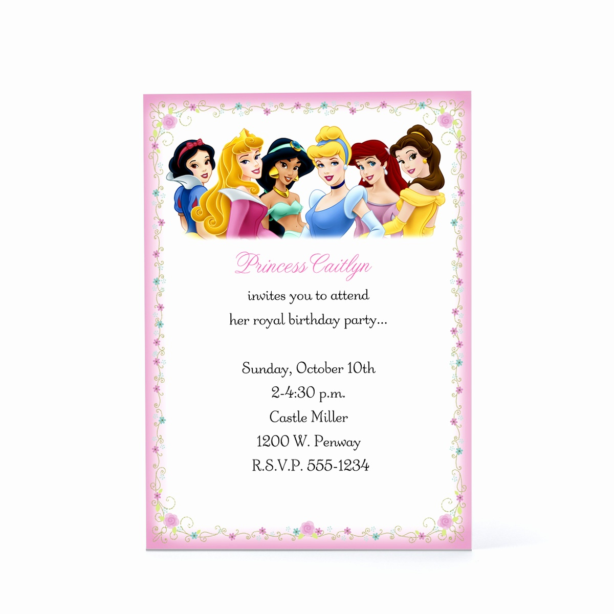 Disney Princess Birthday Invitations Free Printable Beautiful Disney - Disney Princess Birthday Invitations Free Printable