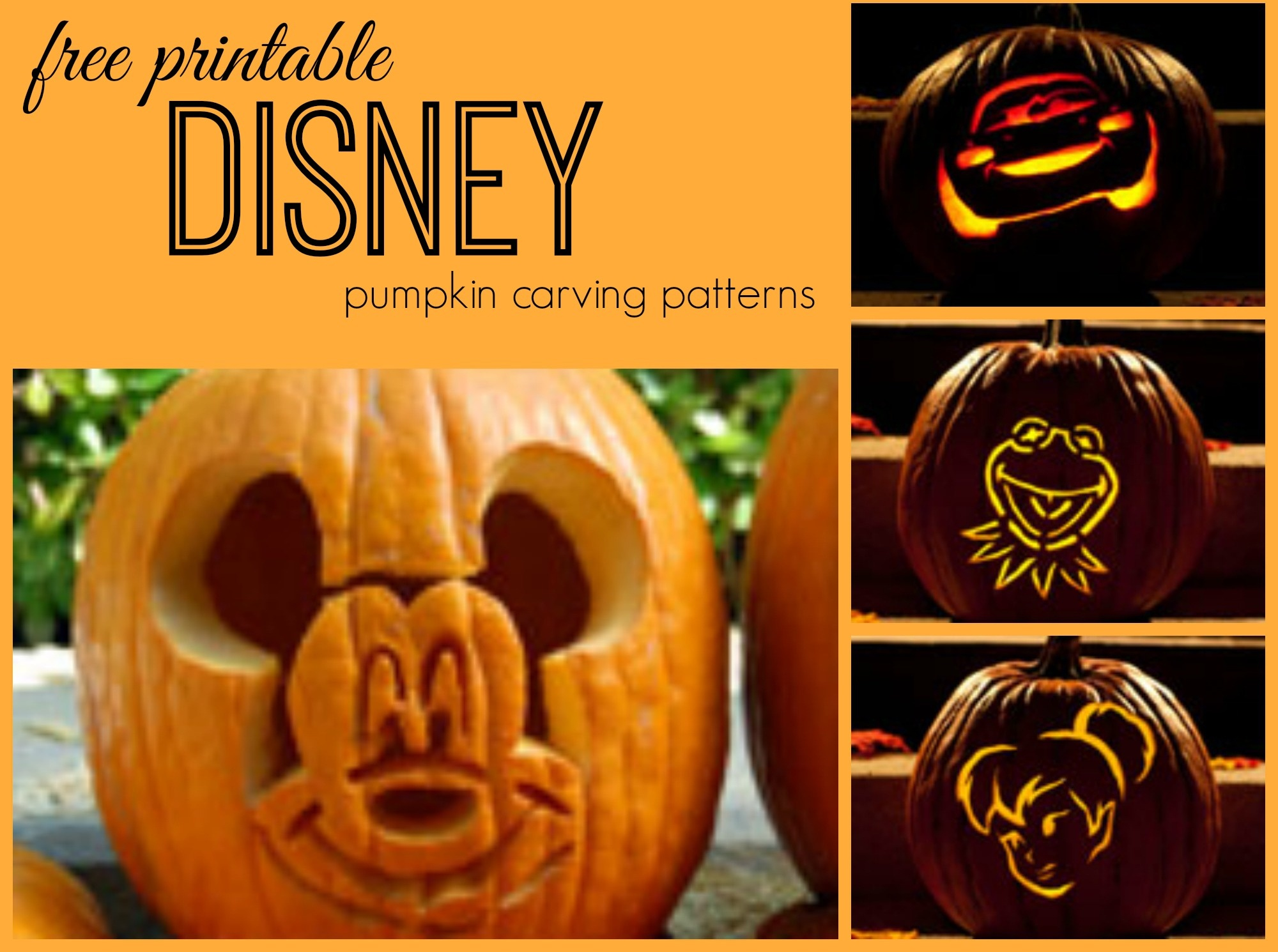 Disney Pumpkin Carving Patterns - Frugal Fanatic - Pumpkin Carving Patterns Free Printable