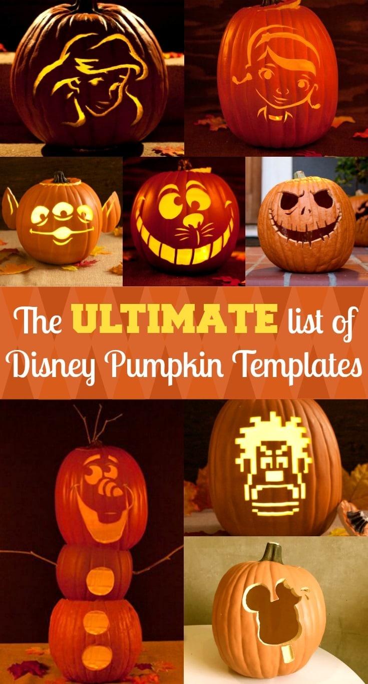 Disney Pumpkin Stencils | Free Disney Pumpkin Carving Templates - Free Printable Lightning Mcqueen Pumpkin Stencil