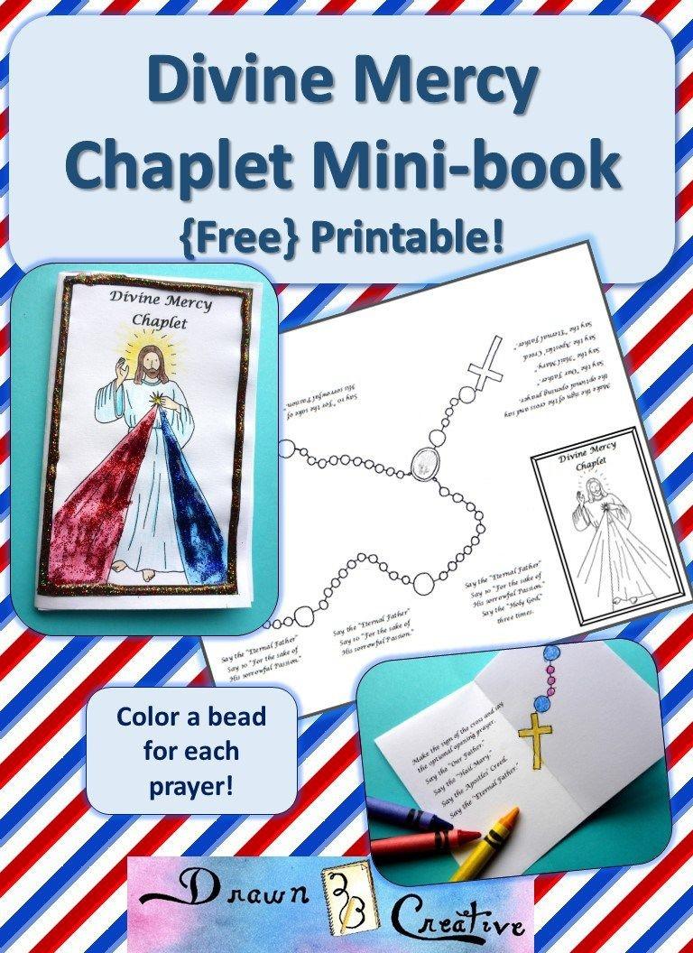 Divine Mercy Chaplet Mini Book | Catholic Printables | Divine Mercy - Free Printable Catholic Mass Book