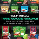 Diy Coach Gifts: Printable Thank You Card For Coach   Free Printable Soccer Thank You Cards