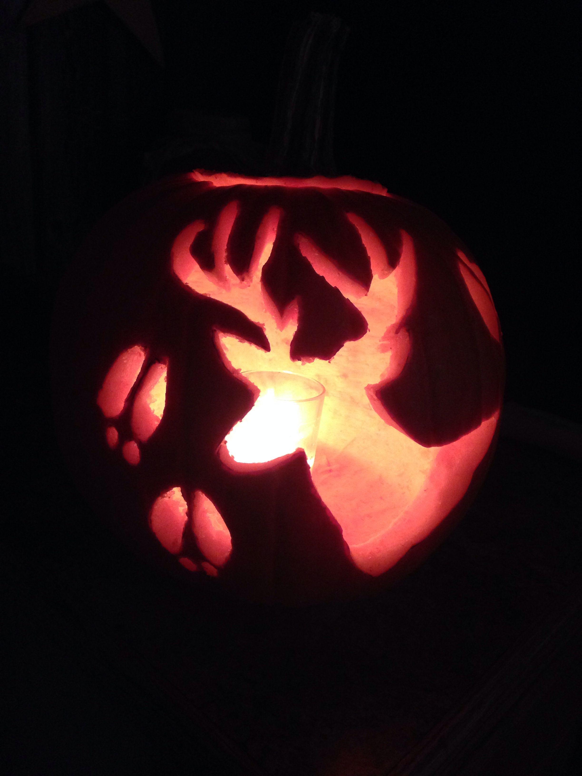 Diy Deer Silhouette Pumpkin Carving | Other Holiday Ideas | Pumpkin - Free Printable Deer Pumpkin Stencils