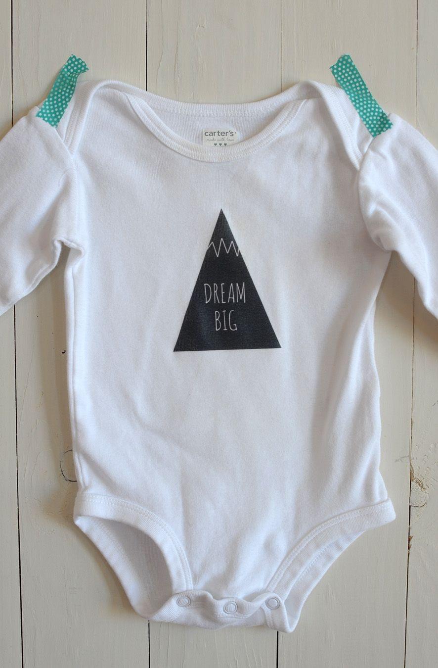 Diy Iron-On Graphic Onesie | Crafty Diy | Onesies, Baby Patterns - Free Printable Onesie Pattern