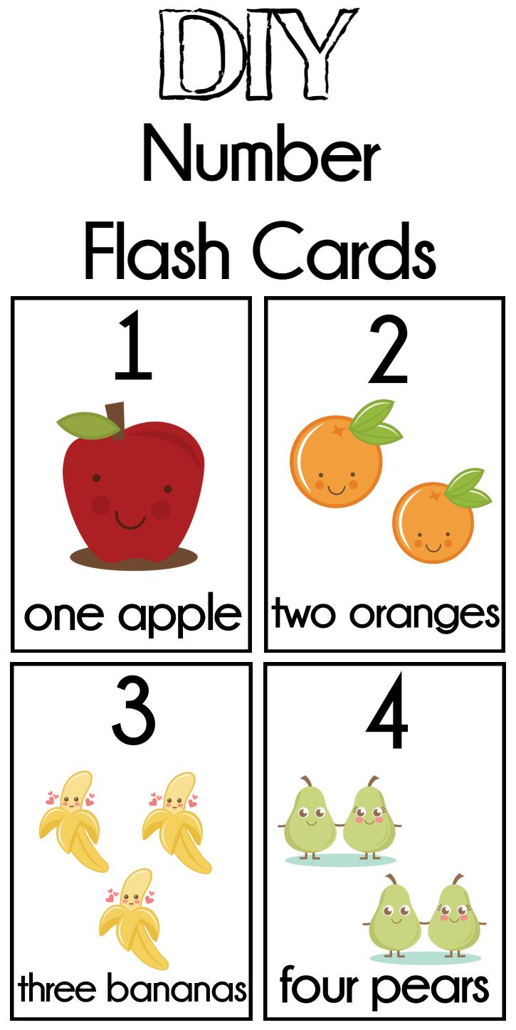 Diy Number Flash Cards Free Printable   Preschool   Numbers - Free Printable Number Cards