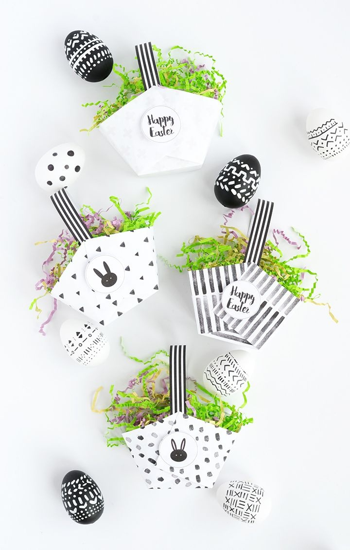 Diy Paper Easter Baskets With Free Printable | Easter | Easter - Free Printable Easter Baskets