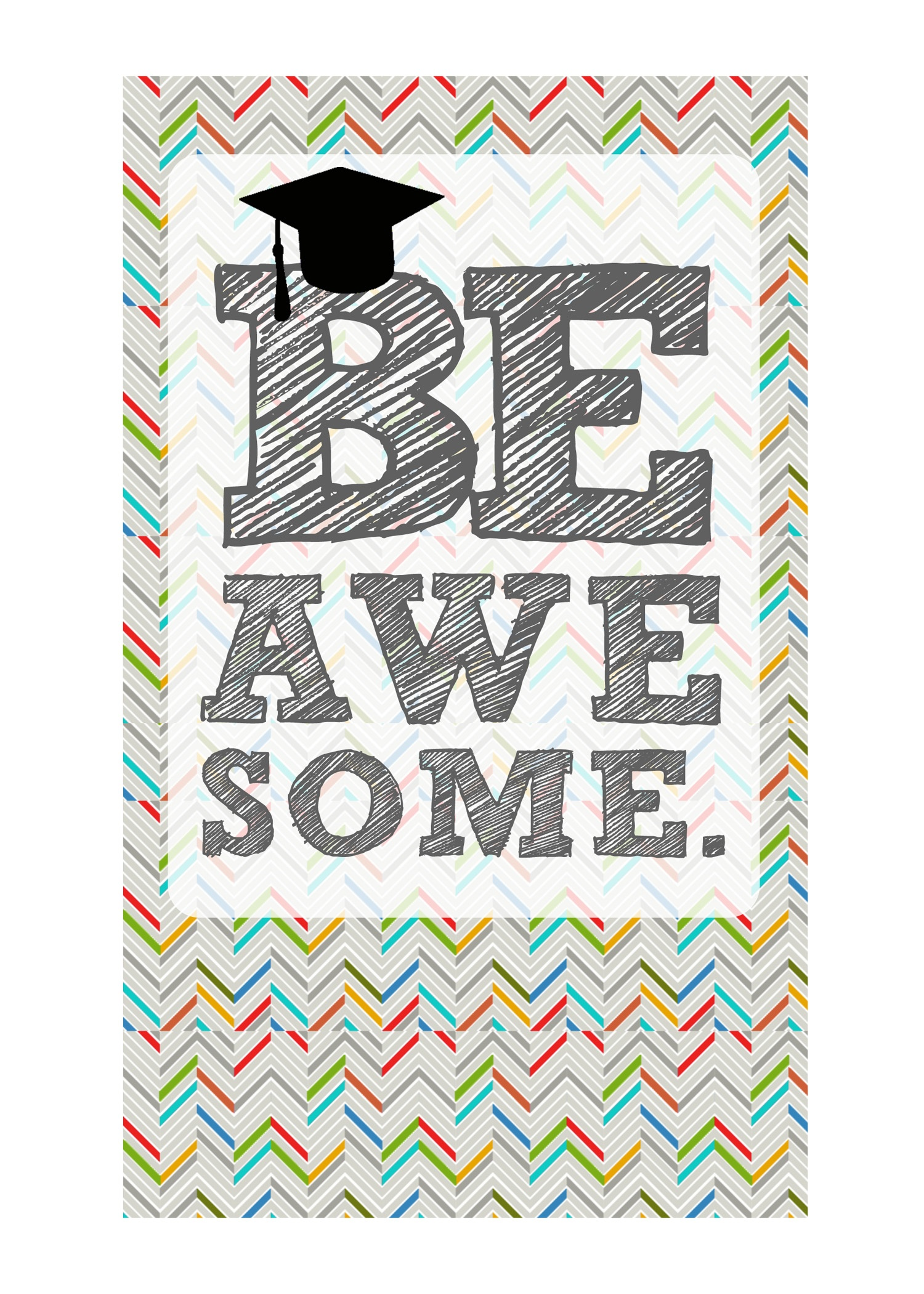 Diy Printable Graduation Cards–'omg' & 'be Awesome' - Free Printable Graduation Cards