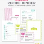 Diy Recipe Book (With Free Printable Recipe Binder Kit!)   Create Your Own Free Printable Cookbook