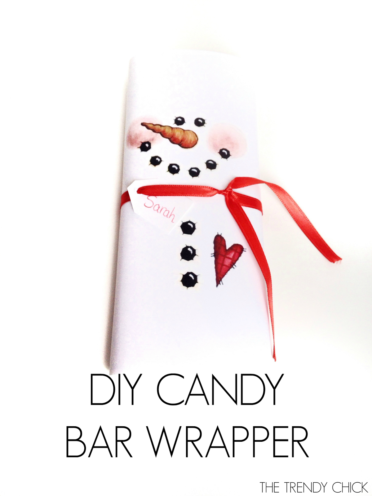 Diy Snowman Candy Bar Wrapper- 4 Easy Diy Christmas Gifts + Free - Snowman Candy Bar Wrapper Free Printable