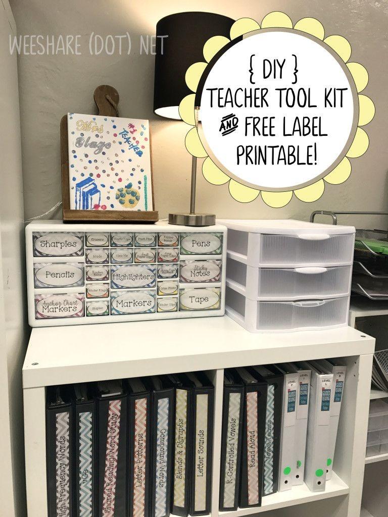 Diy Teacher Tool Box And Free Printable Drawer Labels! | Teach - Free Printable Teacher Toolbox Labels