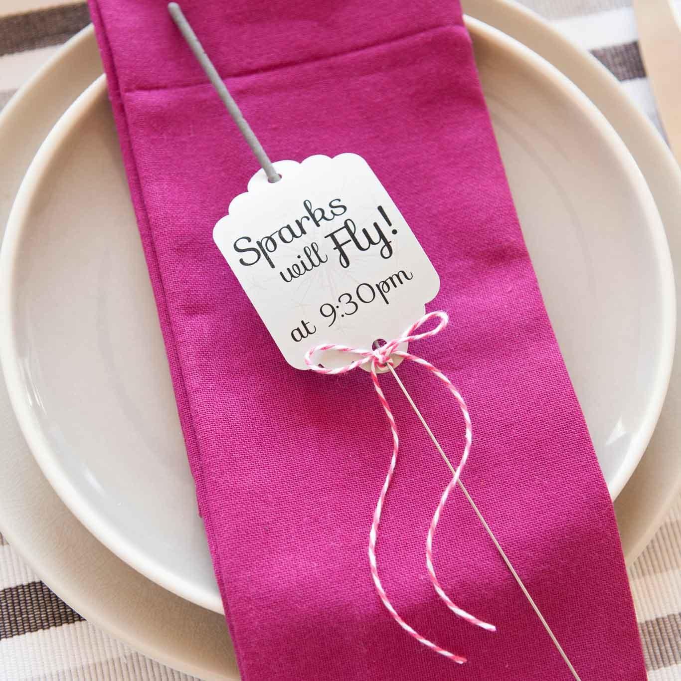 Diy Tutorial For Sparkler Tags For A Wedding Send Off | Fiskars - Free Printable Wedding Sparkler Sign