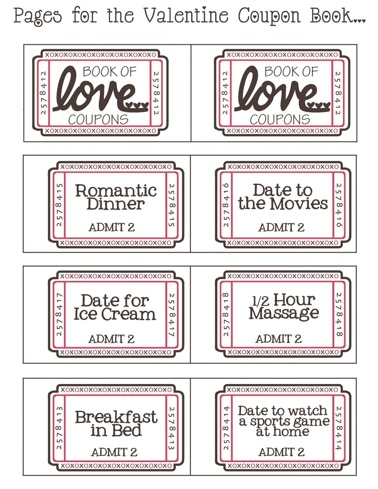 Diy Valentine's Day Coupons Can Also Be Something Like: A Day - Free Massage Coupon Printable