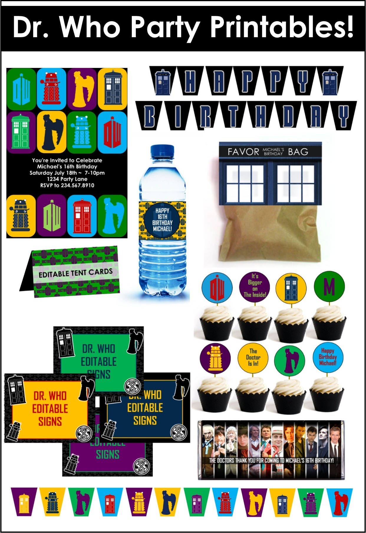 Doctor Who Party Game Ideas - Doctor Who Party Invitations Printable Free