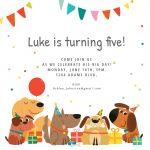 Dog Birthday Invitation Template (Free) | Greetings Island   Free Printable Puppy Dog Birthday Invitations
