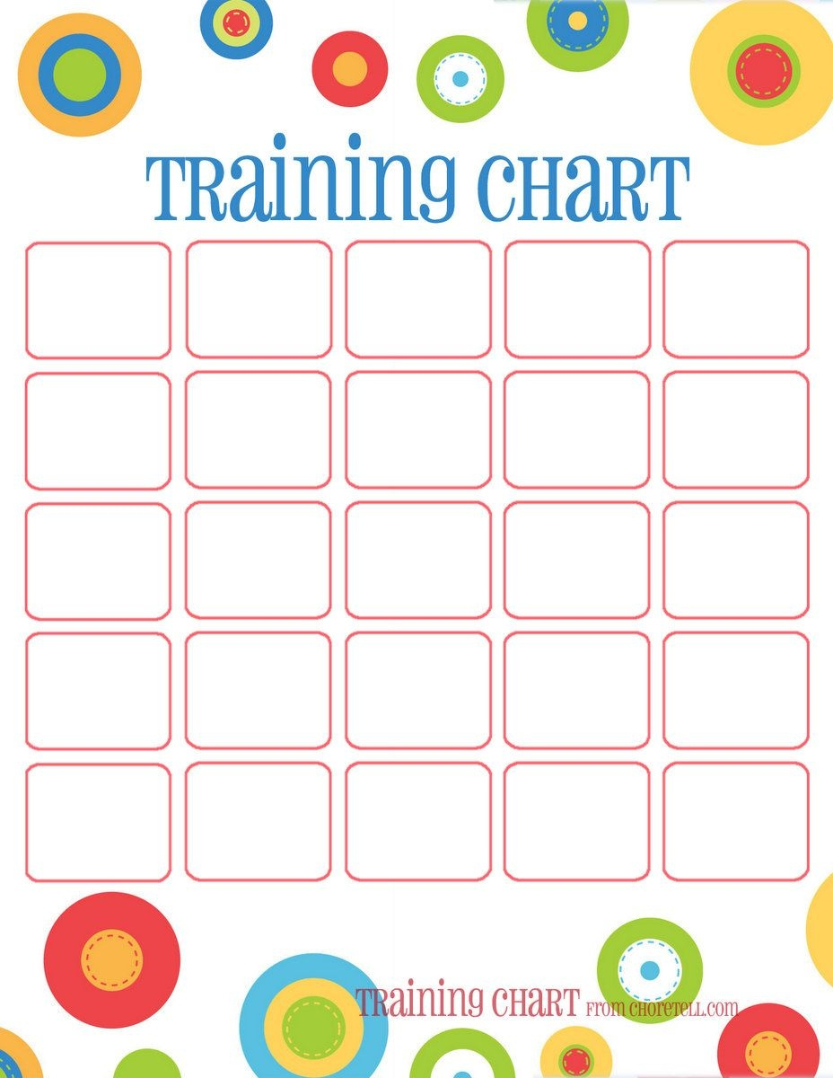 Dots Reward Charts: Potty Training & More | Free Printable Downloads - Free Printable Sticker Charts