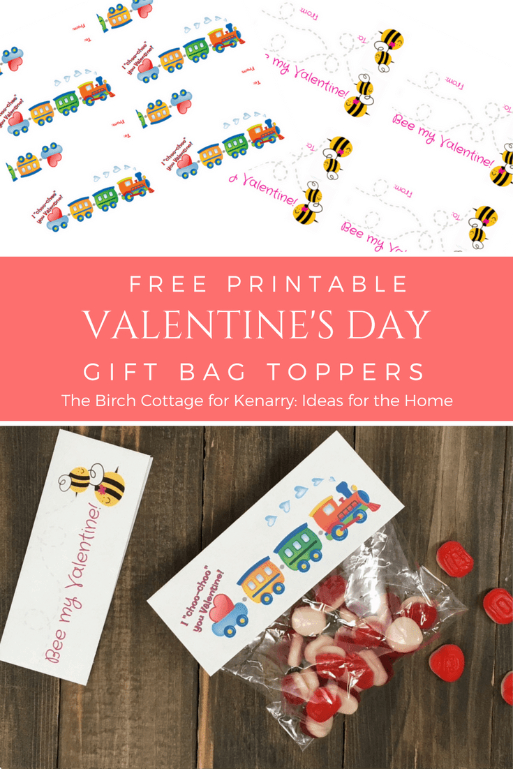 Download And Print Two Valentine Gift Bag Toppers - Free Printable Bag Toppers