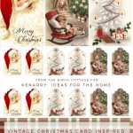 Download Free Printable Vintage Christmas Gift Tags For Holiday Wrapping   Free Printable Vintage Christmas Images
