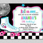 Download Free Template Free Printable Roller Skating Birthday Party   Free Printable 80S Birthday Party Invitations