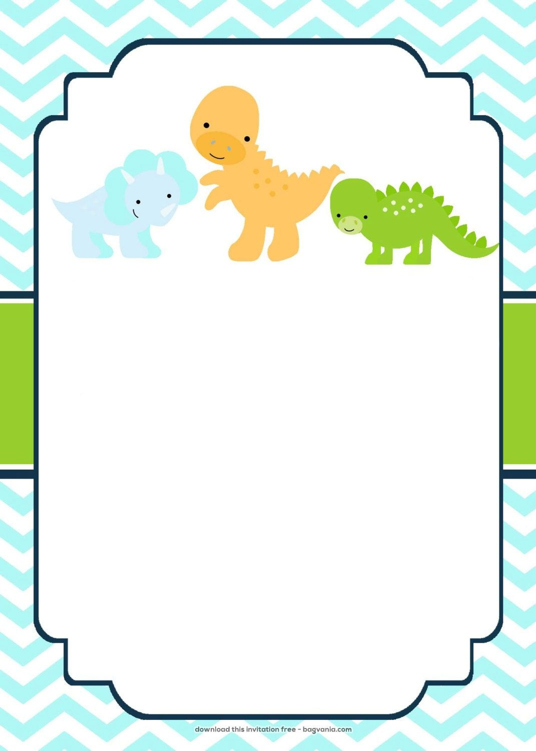 Download Now Free Dinosaur Birthday Invitations | Bagvania - Free Printable Dinosaur Baby Shower Invitations
