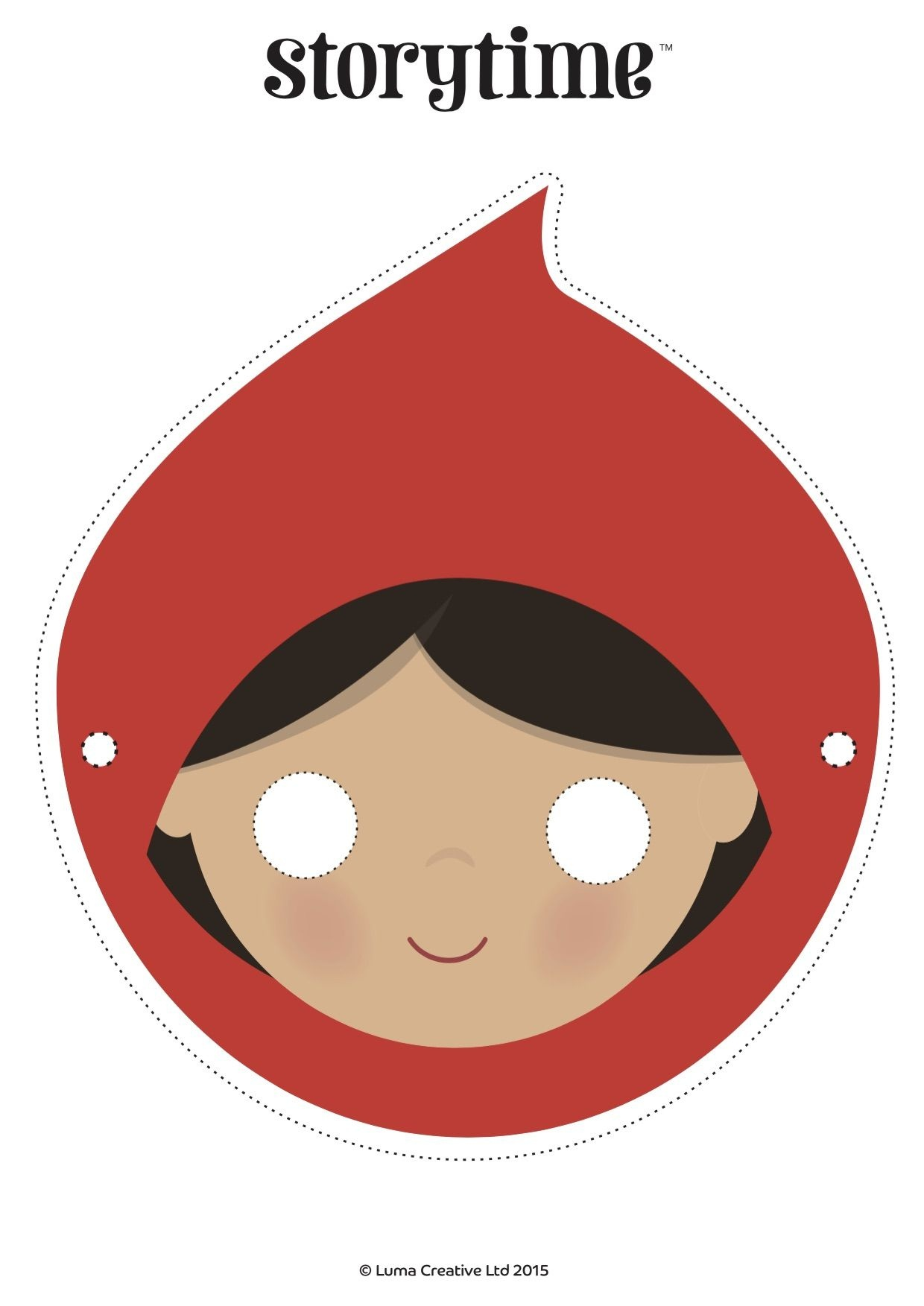 Download Our Free Red Riding Hood Mask And Act Out This Wonderful - Little Red Riding Hood Masks Printable Free