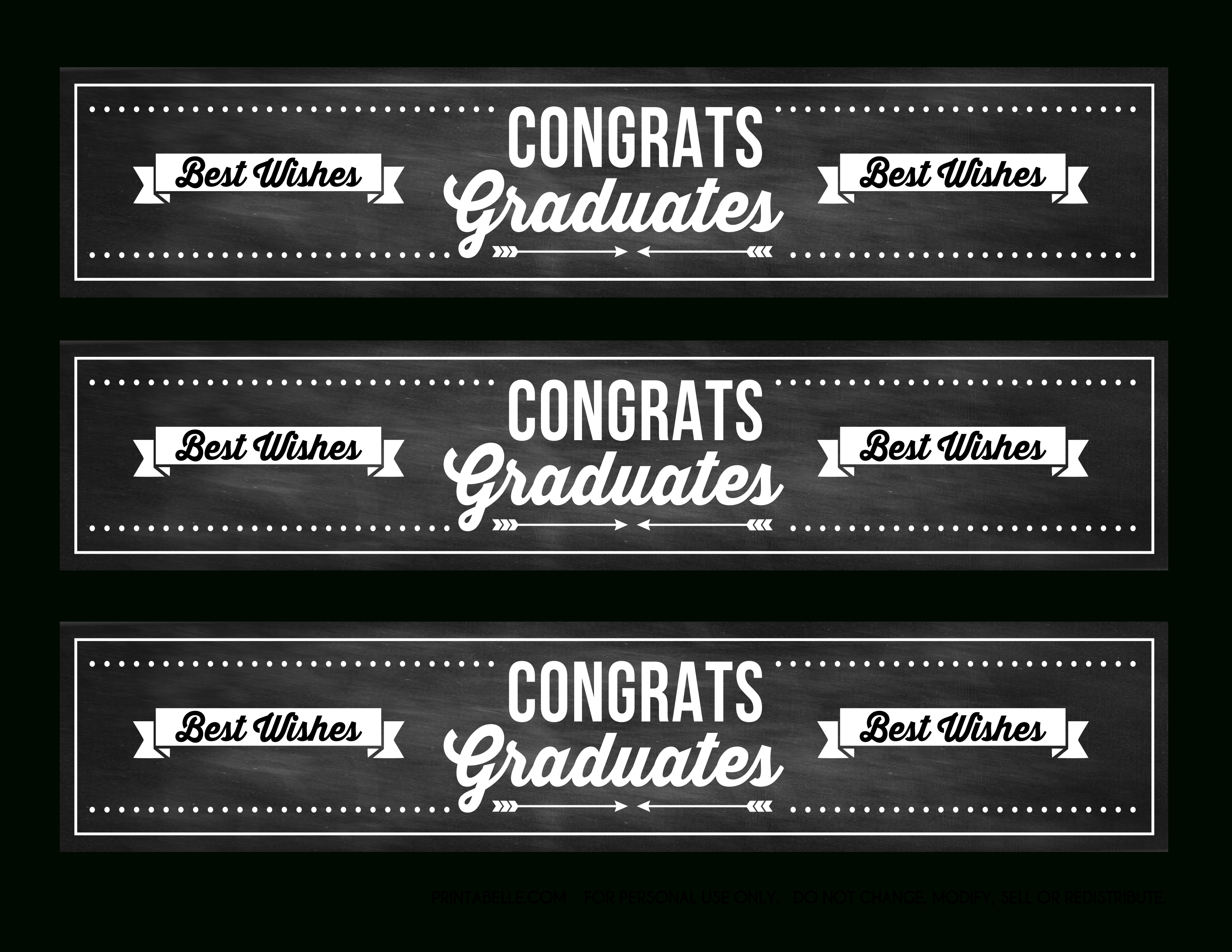 Download These Free Graduation Chalkboard Party Printables! | Catch - Free Printable Water Bottle Labels Graduation