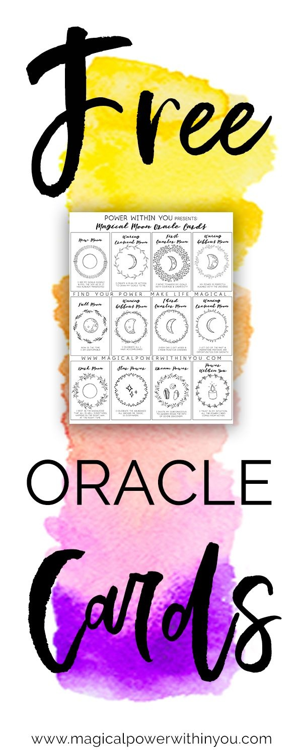 Download These Free Printable Oracle Cards. Print This 12-Card - Free Printable Oracle Cards Pdf