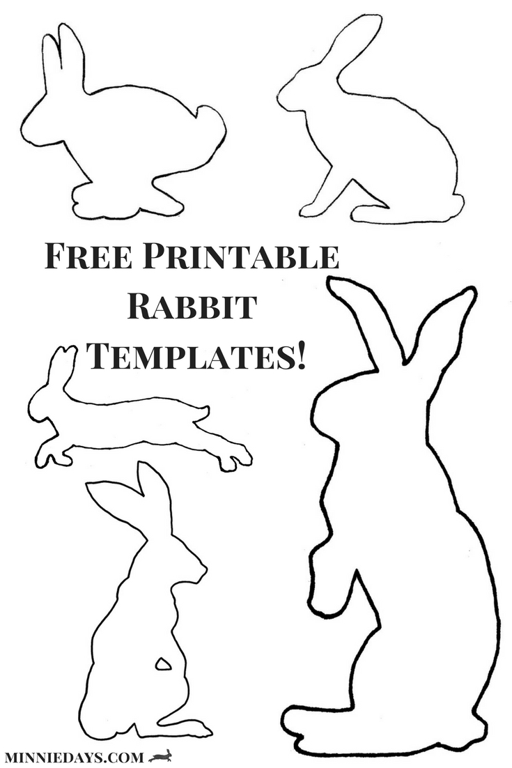 Download Your Free Printable Rabbit Templates Over On My Blog! | T - Free Printable Rabbit Template