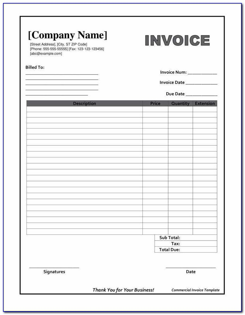 Downloadable Invoice Template Beautiful Printable Invoices Templates - Free Printable Blank Invoice Sheet