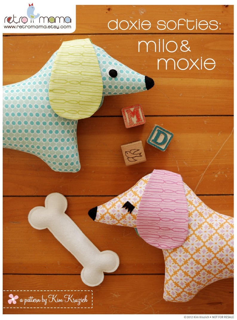 Doxie Stuffed Animal Sewing Pattern Tutorial Pdf Sewing | Etsy - Free Printable Dachshund Sewing Pattern