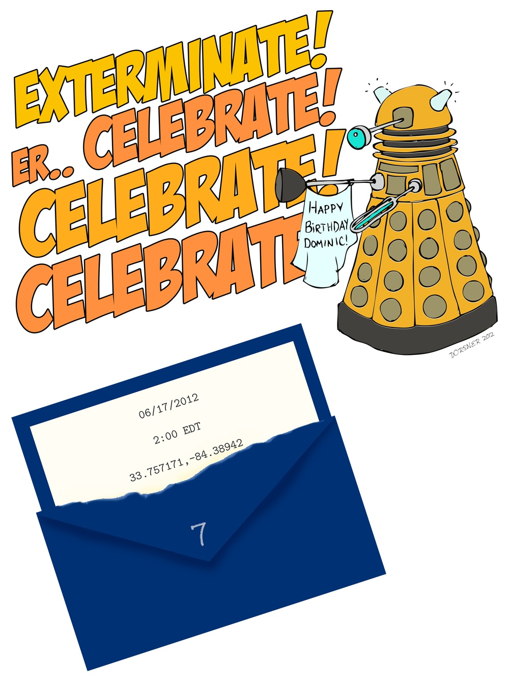Dr. Who Birthday Party Invitation (Downloadable Template, Too - Doctor Who Party Invitations Printable Free
