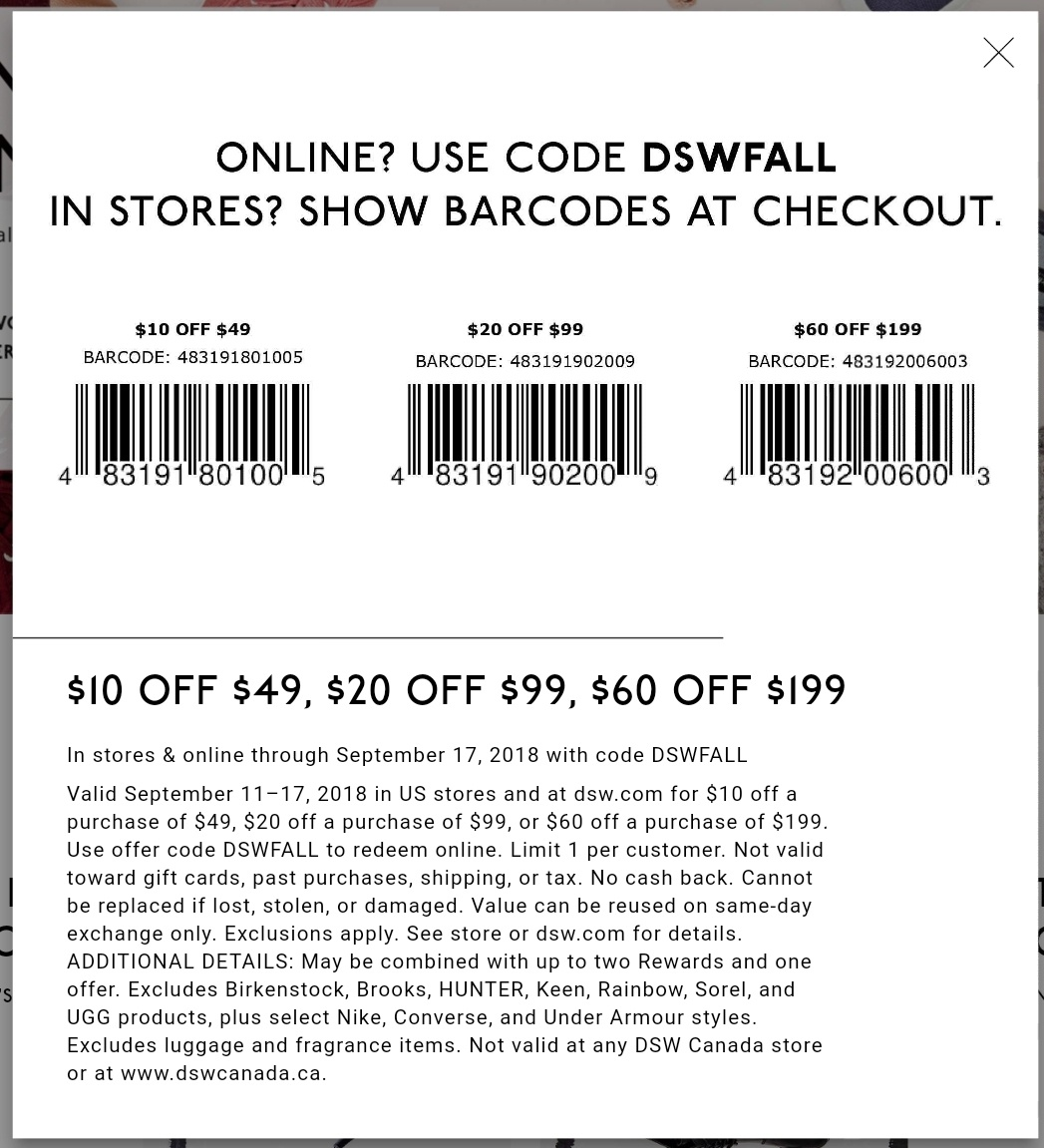 Dsw Printable Coupon - Printable Coupons 2019 - Free Printable - Free Printable Coupons For Dsw Shoes