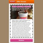 Dunkin Donuts Coupons Jan   Feb | Printable Coupons Online   Free Coffee Coupons Printable