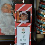 East Coast Mommy: Elf Kissing Booth (Free Printable)   Elf On The Shelf Kissing Booth Free Printable