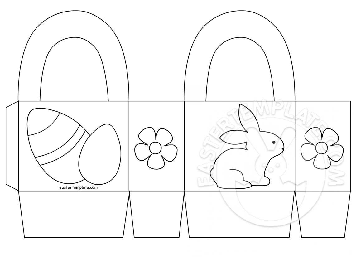 Easter Basket Printable Coloring Page | Easter Template - Free Printable Easter Egg Basket Templates