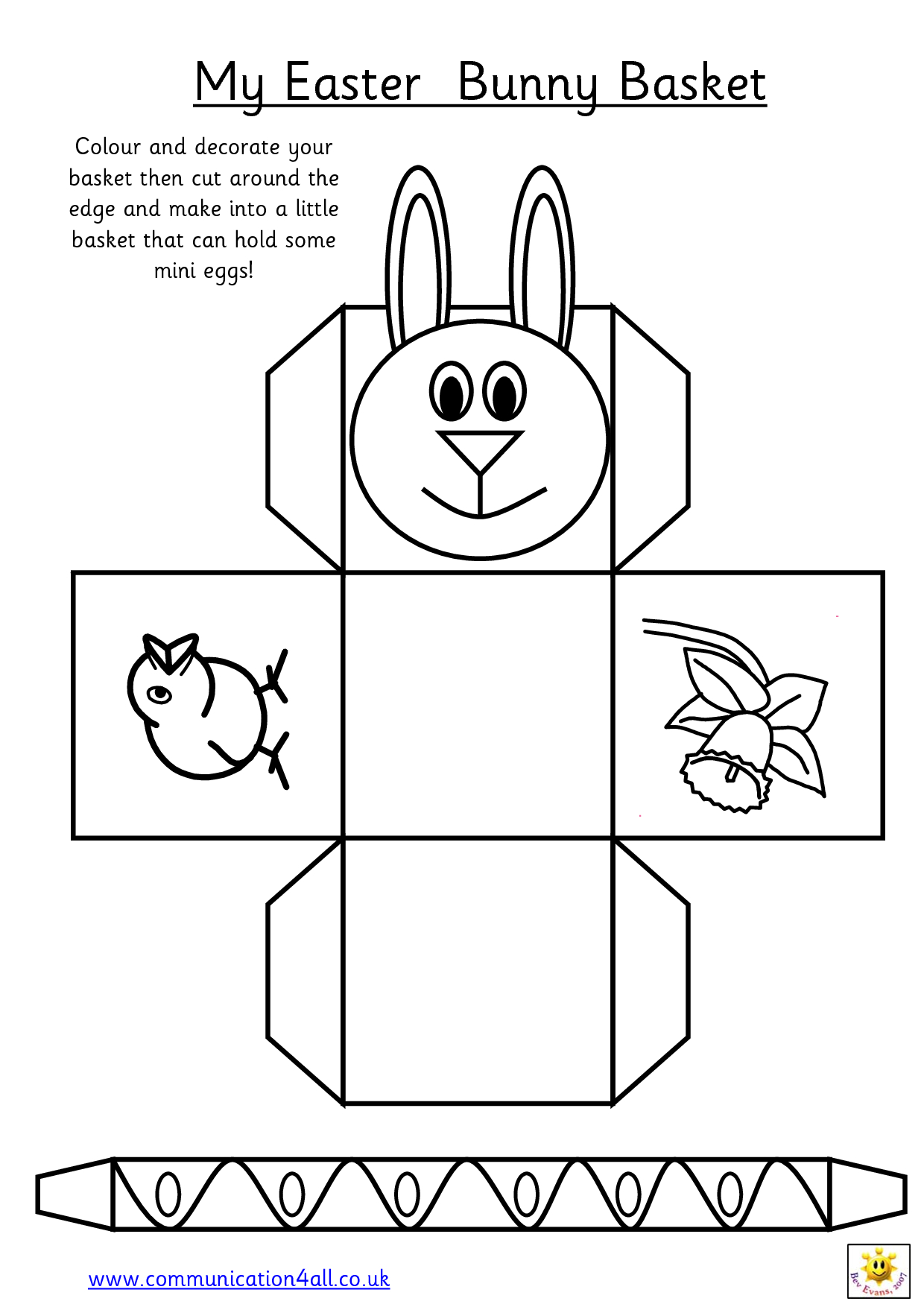 Easter Basket = This One Is Most Like The One That I Remember Making - Free Printable Easter Egg Basket Templates