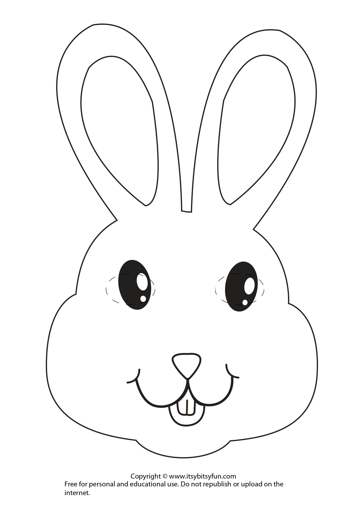 Easter Masks - Bunny Rabbit And Chick Template - Itsy Bitsy Fun - Free Printable Rabbit Template