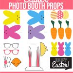 Easter Photo Booth Props From Capturing Joy With Kristen Duke   Free Photo Booth Props Printable Pdf