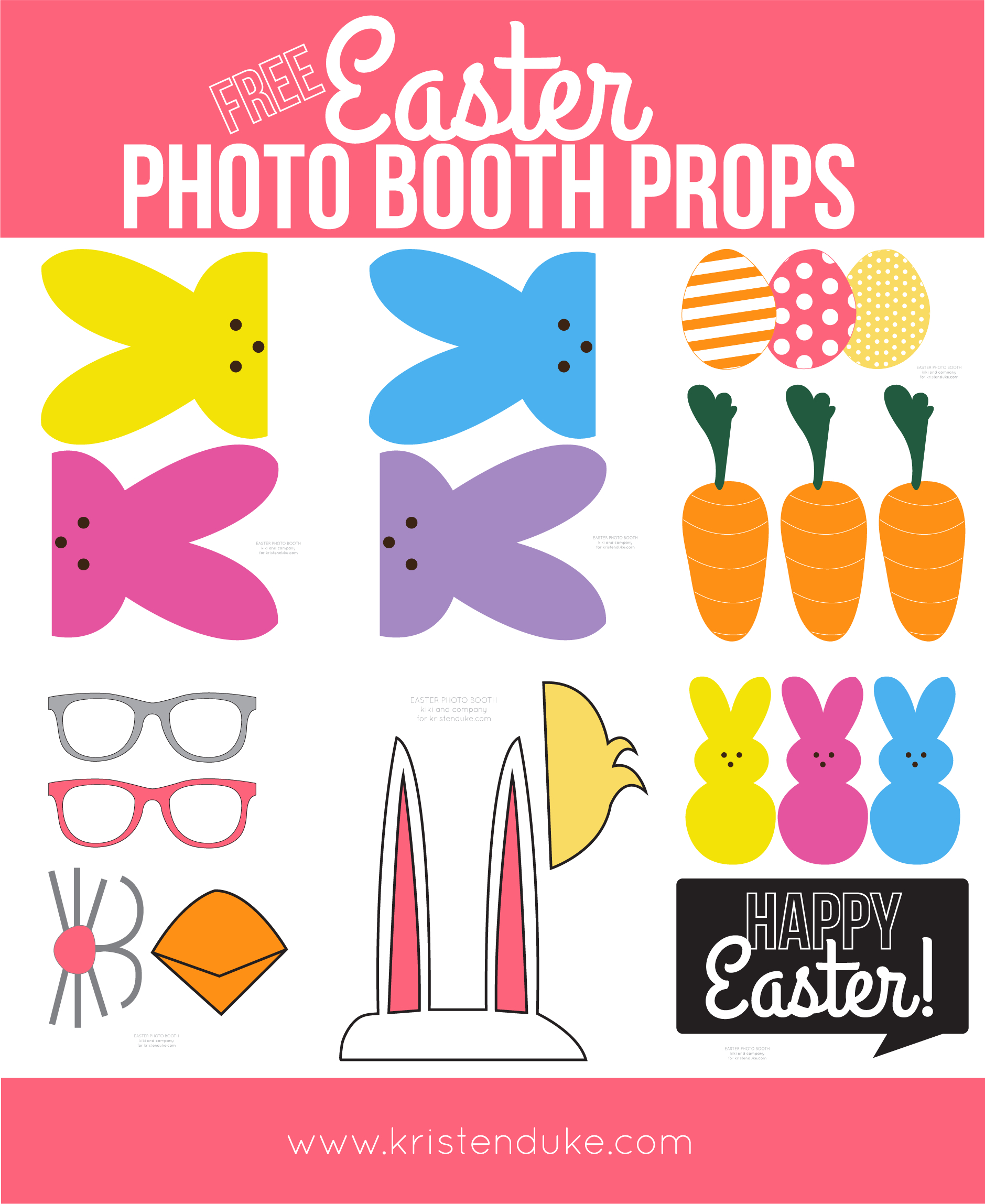 Easter Photo Booth Props From Capturing Joy With Kristen Duke - Free Photo Booth Props Printable Pdf