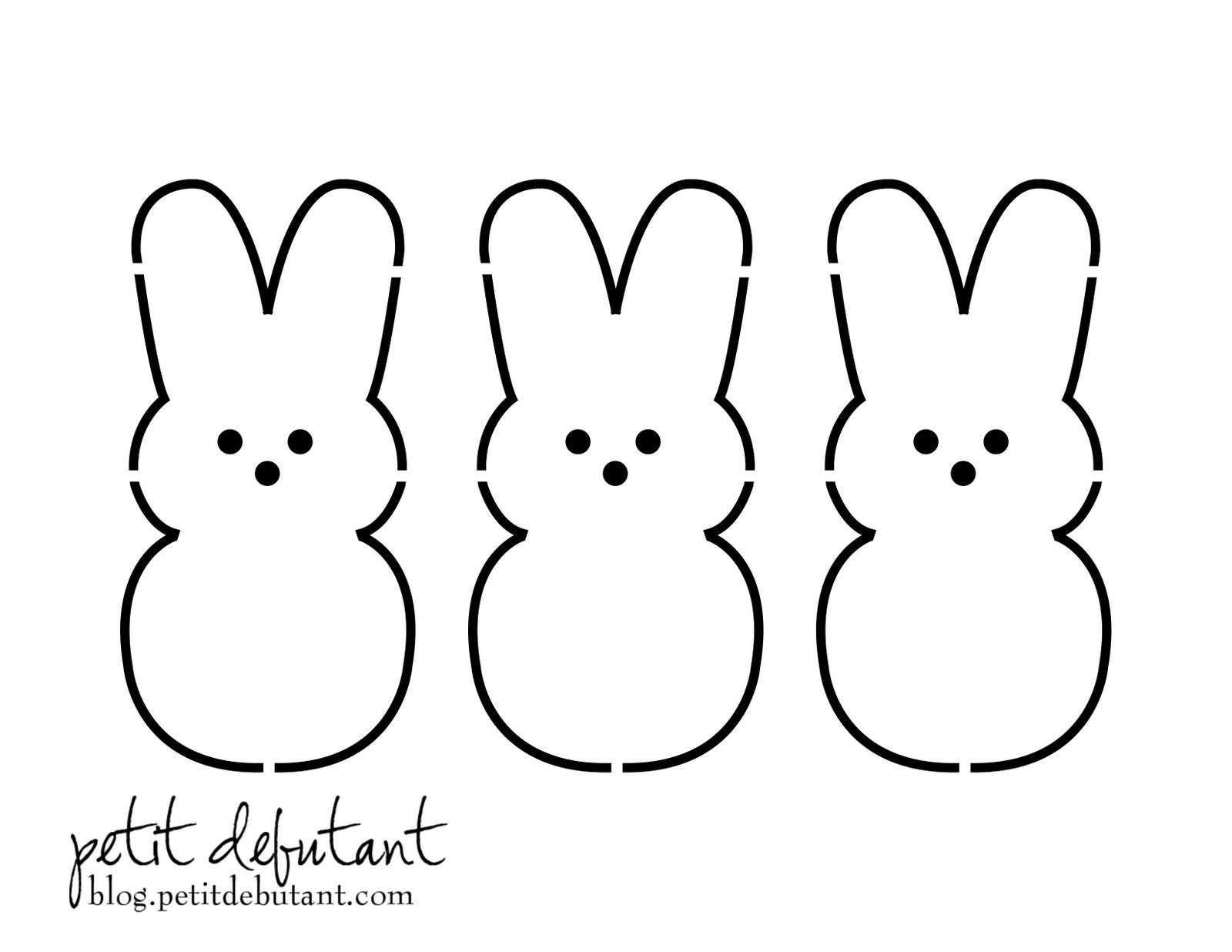 Easter Rabbit Templates Free – Hd Easter Images - Free Printable Rabbit Template