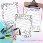 Easter Stationery Set   Coloring Pages (Free Printable)     Free Printable Easter Stationery
