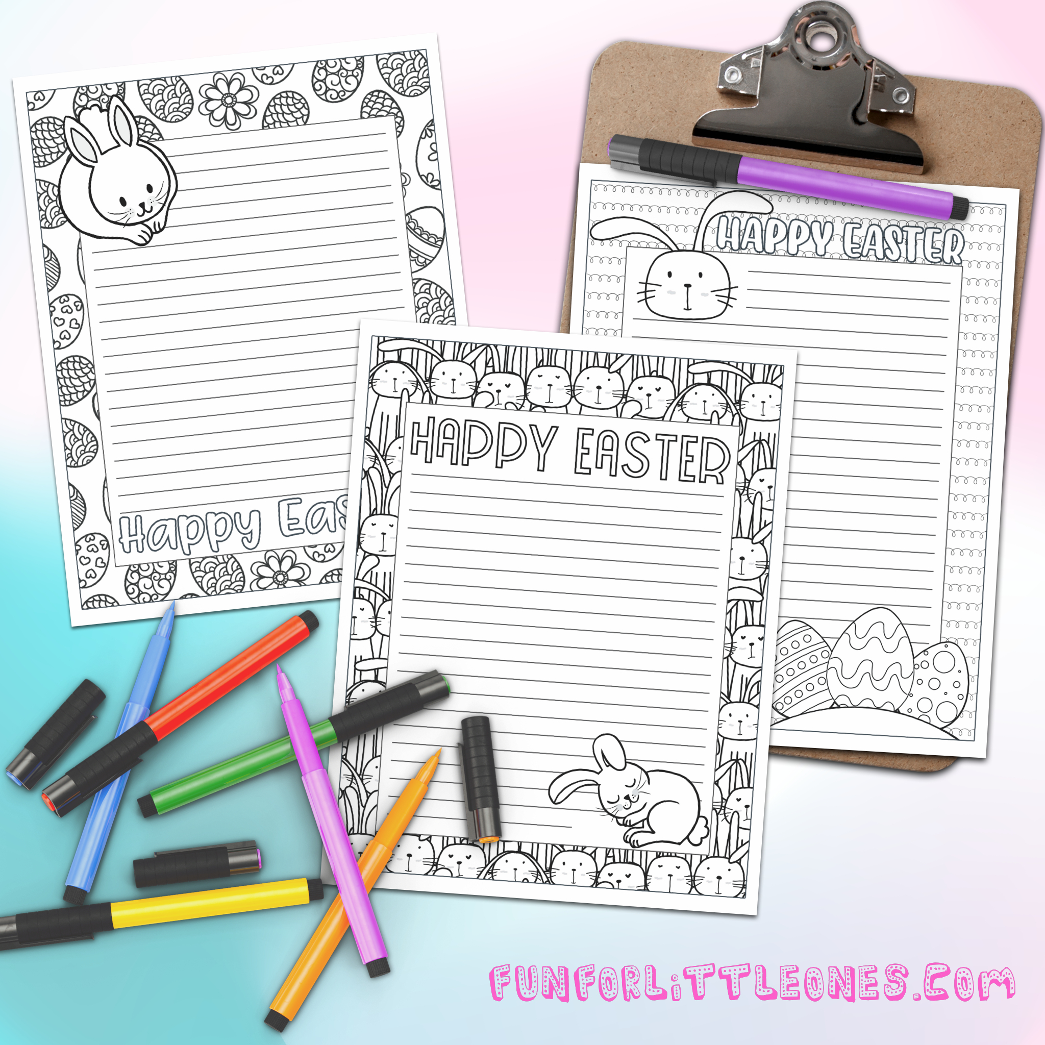 Easter Stationery Set - Coloring Pages (Free Printable) - - Free Printable Easter Stationery