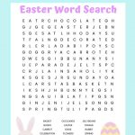 Easter Word Search Free Printable Worksheet For Kids   Word Search Free Printables For Kids