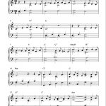 Easy Piano Solo Arrangementpeter Edvinsson Of The Christmas   Free Printable Christmas Music Sheets Piano