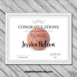 Editable Basketball Certificate Template   Printable Certificate   Basketball Participation Certificate Free Printable