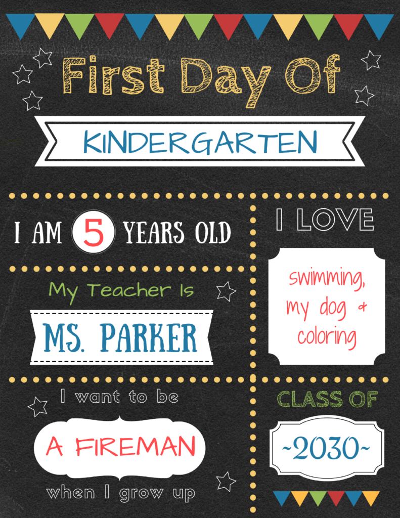 Editable First Day Of School Signs To Edit And Download For Free - First Day Of School Printable Free