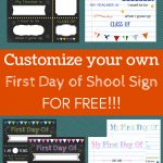 Editable First Day Of School Signs To Edit And Download For Free   Free Printable First Day Of School Signs 2018