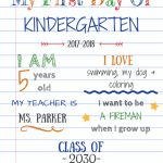 Editable First Day Of School Signs To Edit And Download For Free   My First Day Of Kindergarten Free Printable