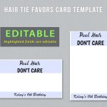 Editable Hair Tie Favors Card Template To Have And To Hold | Etsy   To Have And To Hold Your Hair Back Free Printable
