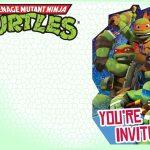 Editable Ninja Turtle Invitation Template | Tkb Printables In 2019   Free Printable Ninja Turtle Birthday Invitations